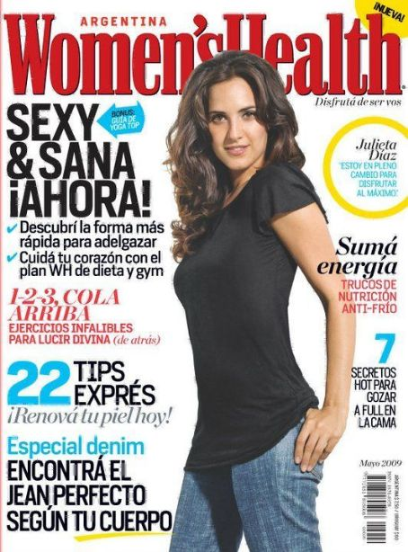 Julieta Diaz - Women's Health Magazine Cover [Argentina] (May 2009)