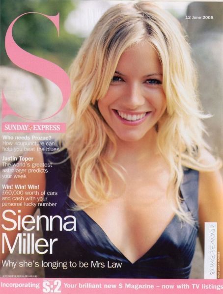 Sienna Miller - S - Sunday Express Magazine Cover [United Kingdom] (12 June 2005)