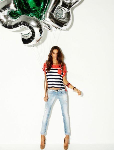Izabel Goulart Blanco Jeans Spring Campaign 2012