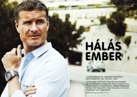 David Coulthard - Formula Magazine, Hungary - October, 2011