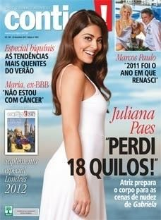 Juliana Paes - Contigo! Magazine Cover [Brazil] (28 December 2011)