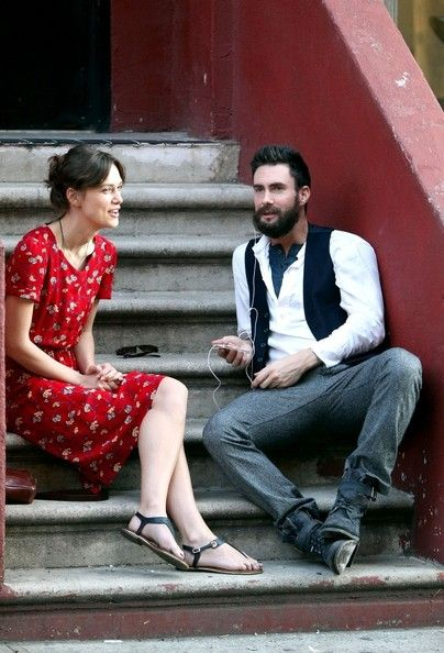 Adam Levine - Adam and Keira film in New York
