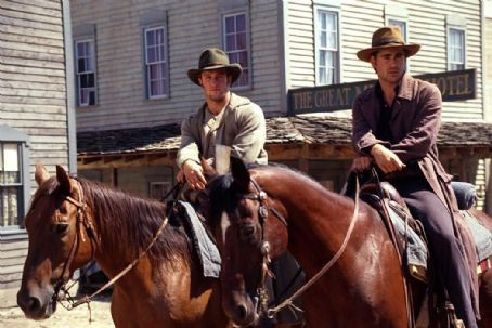 American Outlaws Scott Caan and Colin Farrell in Warner Brothers'  - 2001
