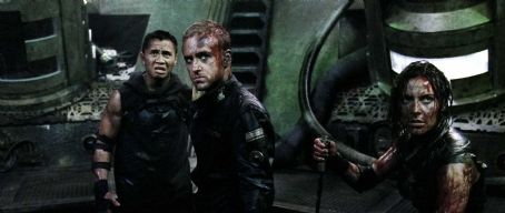 Antje Traue (Left to right.) Cung Le,  and Ben Foster star in Overture Films' Pandorum. © Copyright 2009 Constantin Film Produktion GmbH. All Rights Reserved.