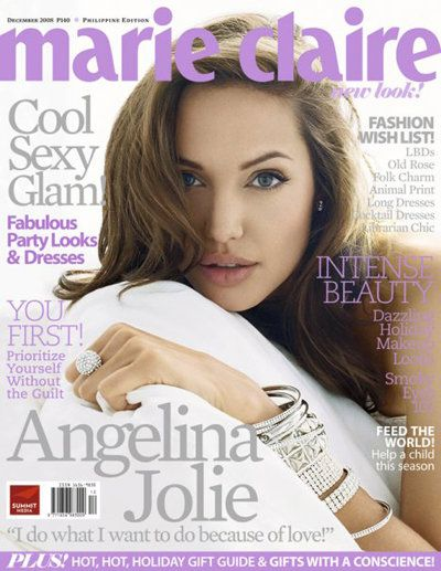 Angelina Jolie - Marie Claire Magazine [Philippines] (December 2008)