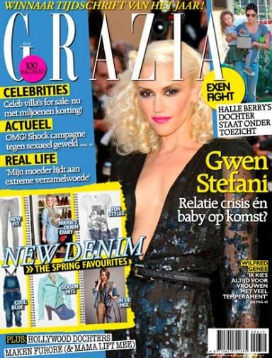 Gwen Stefani - Grazia Magazine Cover [Netherlands] (2 February 2012)