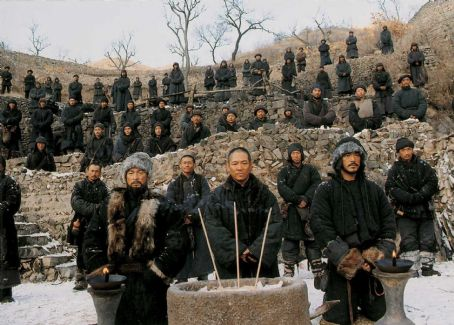 Andy Lau , Jet Li and Takeshi Kaneshiro in THE WARLORDS, a Magnet Release. Photo courtesy of Magnet Releasing.