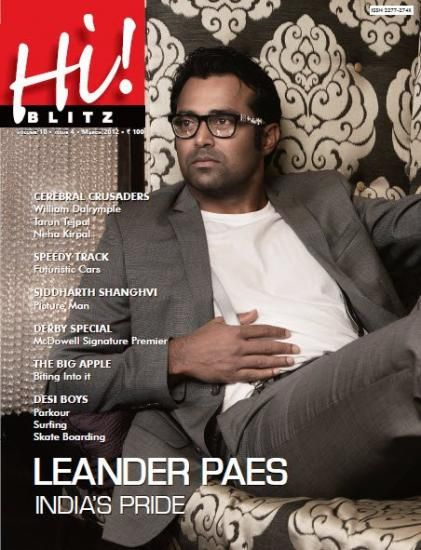 Leander Paes - Hi! BLITZ Magazine Cover [India] (March 2012)
