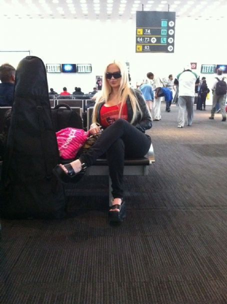 Sabrina Sabrok  at an airport