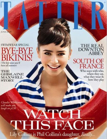 Lily Collins - Tatler Magazine Cover [United Kingdom] (June 2011)