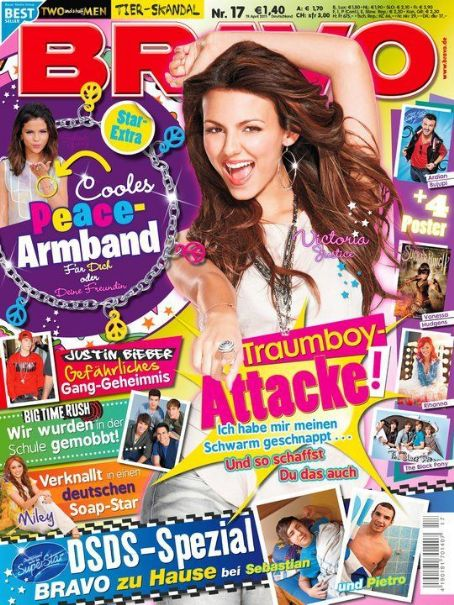 Victoria Justice - Bravo Magazine Cover [Germany] (20 April 2011)