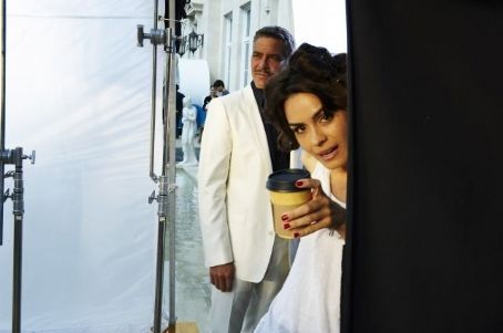 Shannyn Sossamon and George Clooney in Martini Commercial