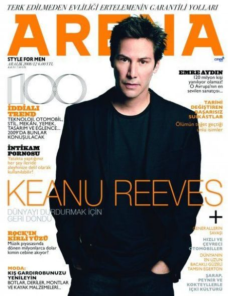 Keanu Reeves - Arena Magazine Cover [Turkey] (December 2008)