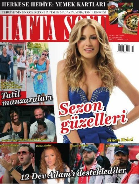 Sinem Kobal - Haftasonu Magazine Cover [Turkey] (15 September 2010)