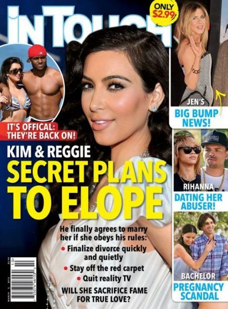 Kim Kardashian, Jennifer Aniston, Rihanna - In Touch Weekly Magazine Cover [United States] (5 March 2012)