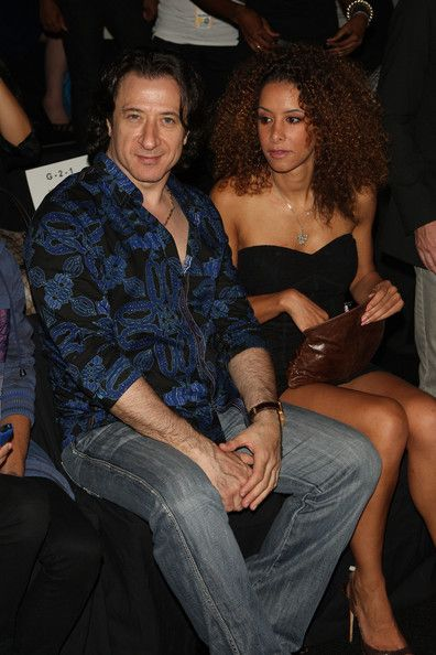 Actors Federico Castelluccio (L) and Yvonne Maria Schäfer attend the Custo Barcelona Spring 2010 Fashion at Bryant Park on September 13, 2009 in in New York City