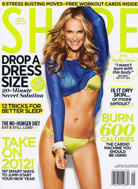 Molly Sims - Shape Magazine Cover [United States] (January 2012)