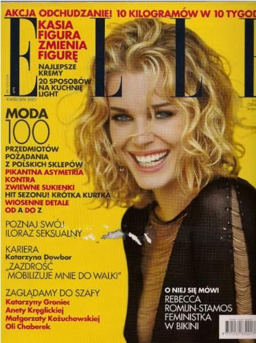 Rebecca Romijn - Elle Magazine Cover [Poland] (April 2001)