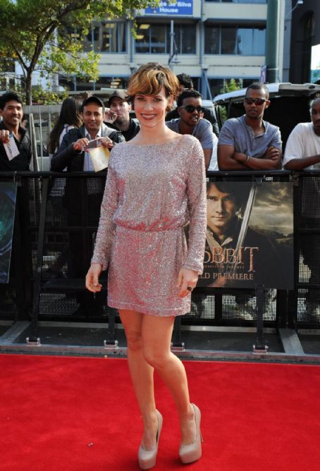Evangeline Lilly: at The Hobbit: An Unexpected Journey Premiere in New Zealand
