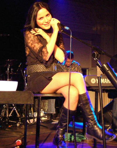 Andrea Corr-Mini Skirt Candids