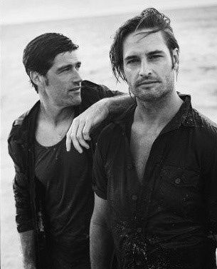 Josh Holloway and Matthew Fox in Vanity Fair ( Jun/2010)