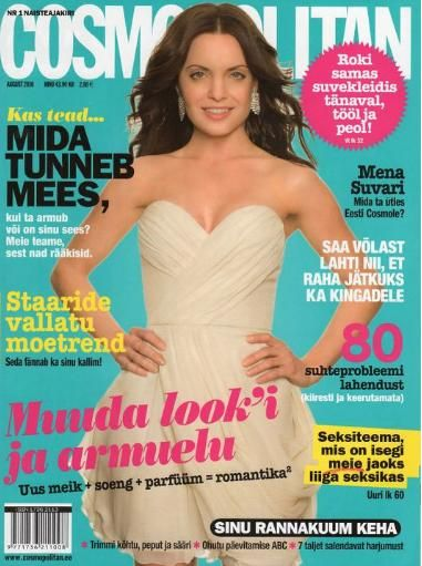 Mena Suvari - Cosmopolitan Magazine Cover [Estonia] (August 2010)