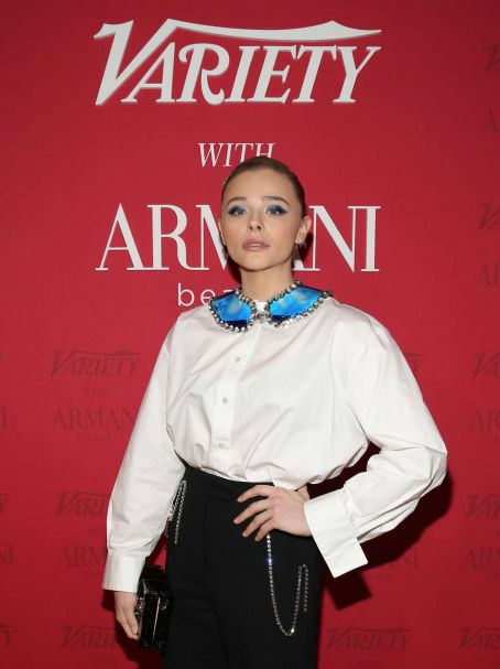 Chloe Grace Moretz – Variety x Armani Makeup Artistry Dinner – Sunset Tower