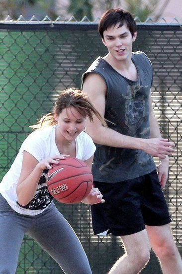 Jennifer Lawrence Shoots and Scores With Boyfriend Nicholas Hoult