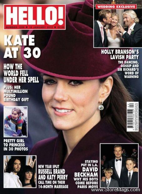 Kate Middleton - Hello! Magazine Cover [United Kingdom] (16 January 2012)