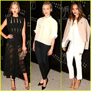 taylor schilling celebrate nars during nyfw toni garrn and taylor