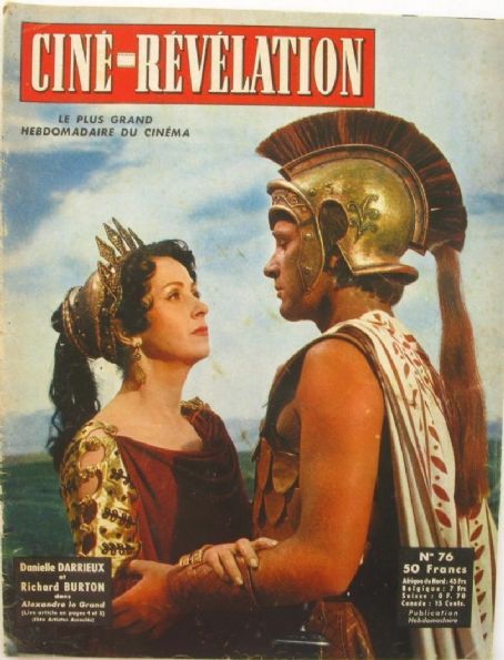 Alexander the Great Danielle Darrieux, Richard Burton, Ciné Révélation n°76, 1955