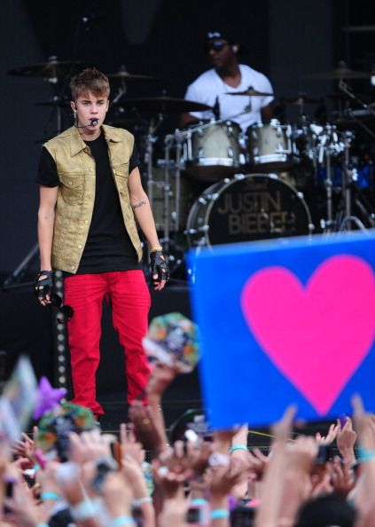 Justin Bieber performed at the MTV World Stage event today, July 14, in Kualr Lumpur, Malaysia