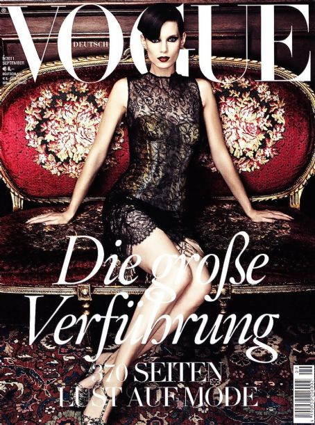 Iris Strubegger - Vogue Magazine Cover [Germany] (September 2011)