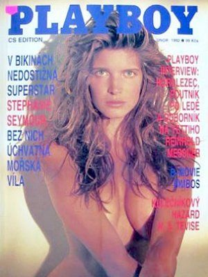 Stephanie Seymour - Playboy Magazine Cover [Czech Republic] (February 1992)