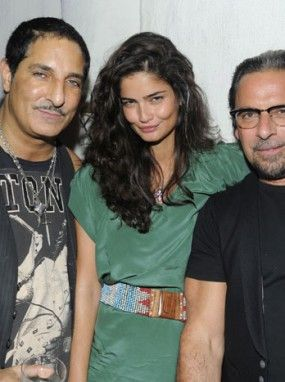 Nur Khan, Shermine Shahrivar and Sante D'Orazio at Scott Lipps's Birthday