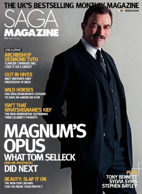 Tom Selleck - SAGA Magazine Cover [United Kingdom] (June 2010)