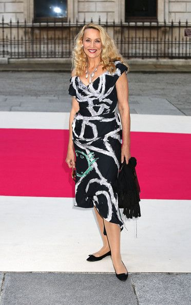 Jerry Hall - JERRY HALL ATTENDS THE ROYAL ACADEMY SUMMER EXHIBITION ON MAY 30TH, 2012 IN LONDON, ENGLAND