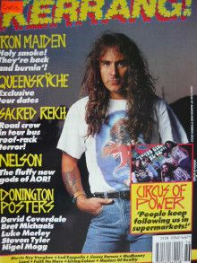 Steve Harris - Kerrang Magazine Cover [United Kingdom] (8 September 1990)