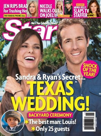 Ryan Reynolds, Sandra Bullock - Star Magazine Cover [United States] (3 October 2011)