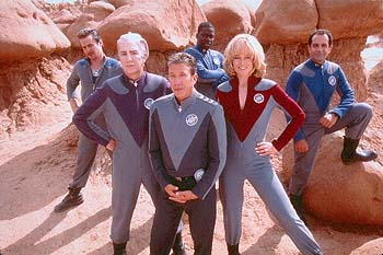 Gwen DeMarco Sam Rockwell, Alan Rickman, Tim Allen, Daryl Mitchell, Sigourney Weaver and Tony Shalhoub in Dreamworks' Galaxy Quest - 12/99