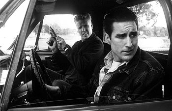 Jake Busey  and Luke Wilson in Warner Brothers' Home Fries - 1998