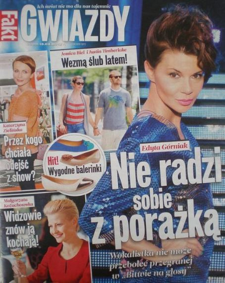 Edyta Górniak - Gwiazdy Magazine Cover [Poland] (13 April 2012)