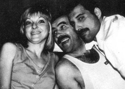 Jim Hutton and Freddie Mercury Mary Austin, Jim hutton and Freddie Mercury