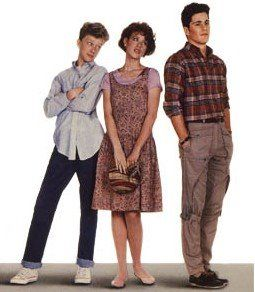 Michael Schoeffling , Molly Ringwald and Anthony Michael Hall in Sixteen Candles (1984)