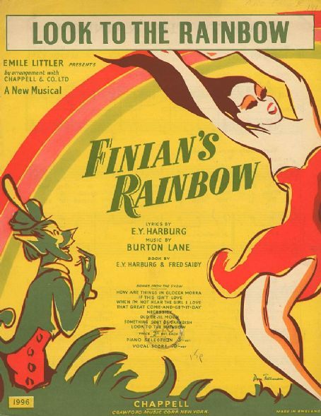 Finian's Rainbow sheet music from 1947 broadway production