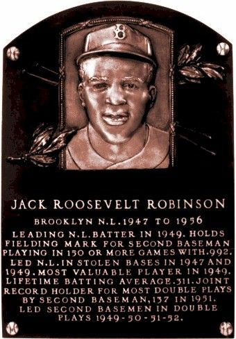 Jackie Robinson - Jackie's plaque at The Hall of Fame