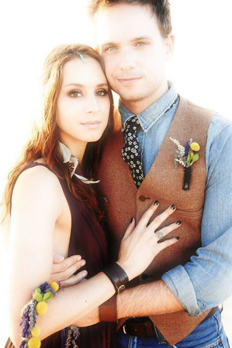 Patrick J. Adams and Troian Bellisario Troian Bellisario and Patrick J. Abrams