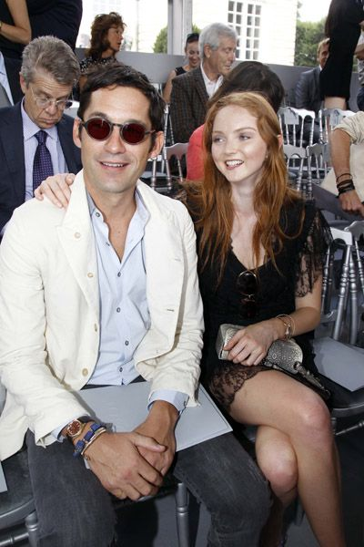 Lily Cole And Enrique Murciano - Christian Dior Paris Fashion Show F/W On July 5, 2010