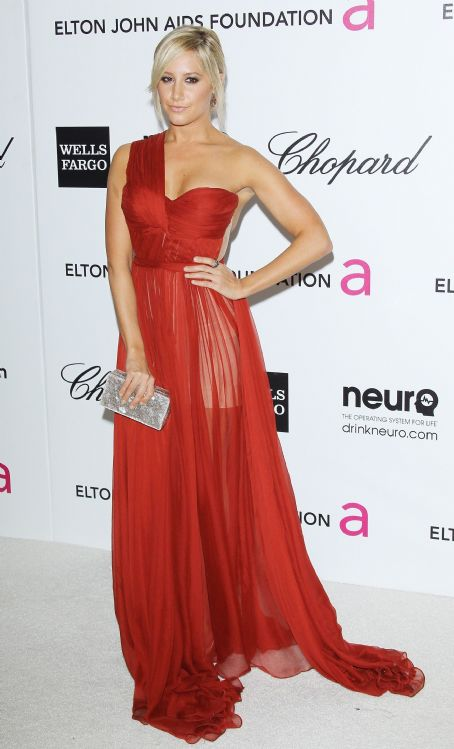 Ashley Tisdale:  20th Annual Elton John AIDS Foundation Academy Awards