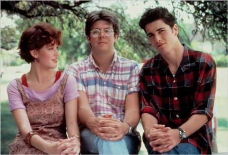 Michael Schoeffling , Molly Ringwald and the director John Hughes in Sixteen Candles (1984)